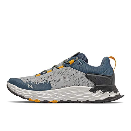 New Balance Men's Fresh Foam Hierro V5 Trail Running Shoe, Light Aluminum/Chromatic Yellow, 15 W US