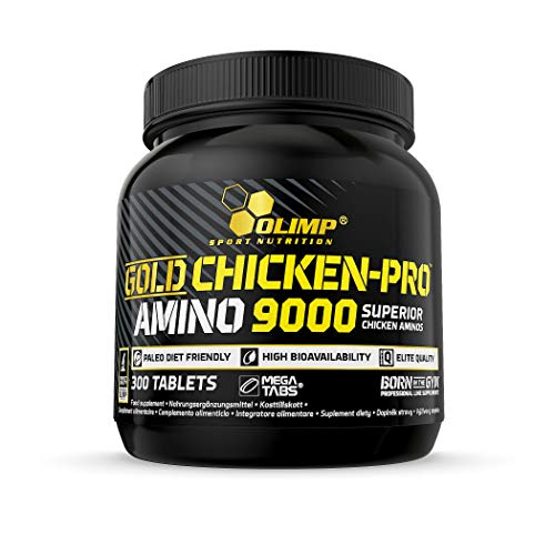 Olimp Gold Chicken-Pro Amino 9000 Mega Tabs - Aminosäuren, 1er Pack (1 x 300 Tabletten)