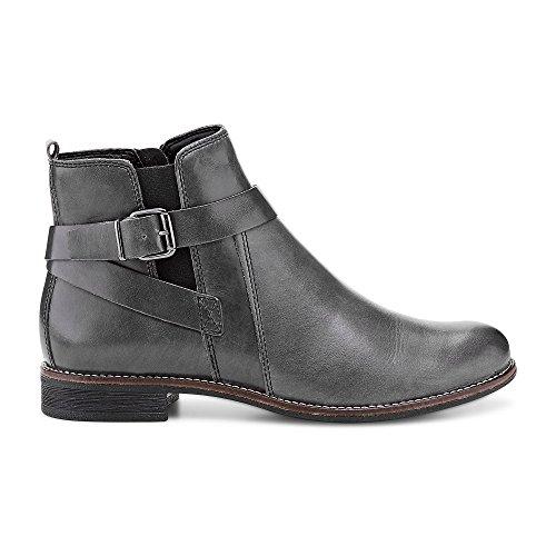 DRIEVHOLT Damen Leder-Stiefelette Grau Leder 38