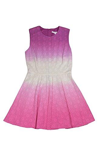 Diane von Furstenberg Jeannie Pink 100% Cotton Eyelet Sleeveless Dress Sundress