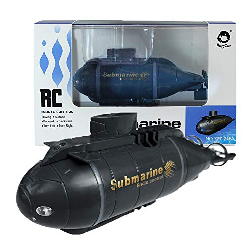 Jujuism Mini Remote Control Nuclear Submarine RC Race Boat Ship High Speed Waterproof Diving in Pools Lake Ponds, Best Gift for Kids Boys(Black)