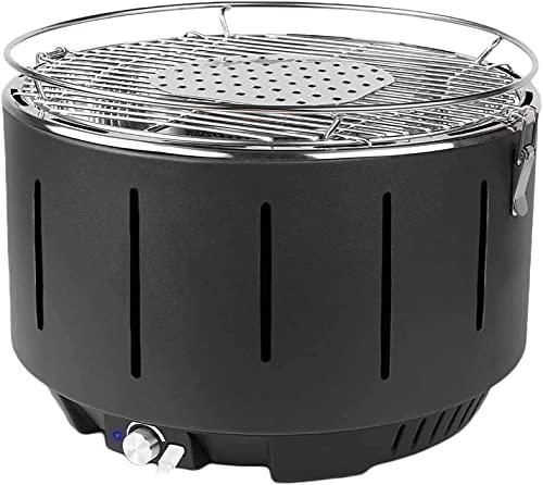 Barbecue a carbonella,Griglia Barbecue Carbone Senza Fumo con Interfaccia Mirco e Ventilatore...