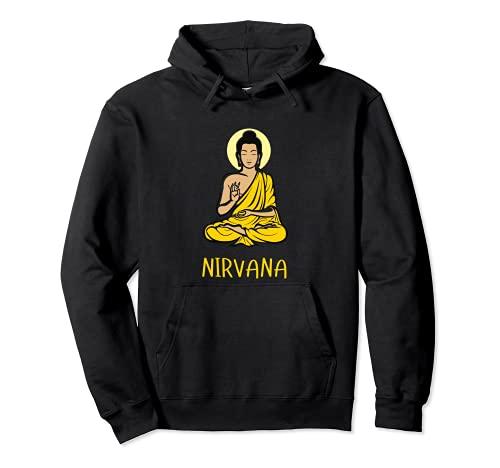 Nirvana Buda Budismo Meditación Yoga Meditación Sudadera con Capucha