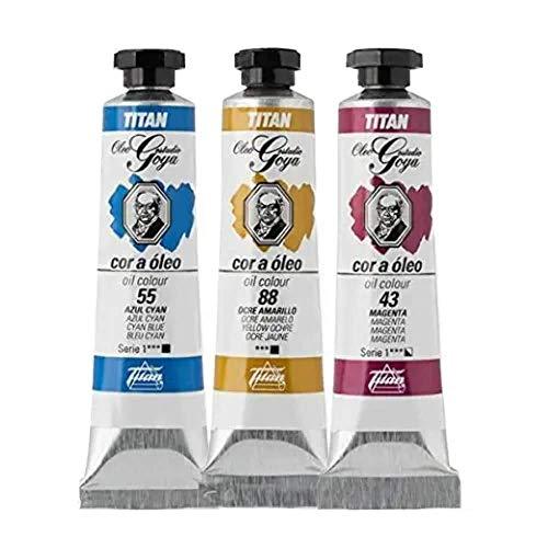 """Colores Blancos Ã""""leo Goya Titan - Tubo 6 - 20 mL, 4-Blanco Goya"""