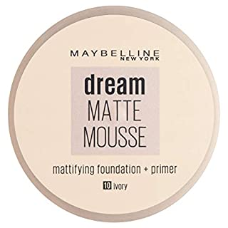 Maybelline New York Dream Matte Mousse SPF 15 10 Ivory 18ml (B002L6O1R4) | Amazon price tracker / tracking, Amazon price history charts, Amazon price watches, Amazon price drop alerts