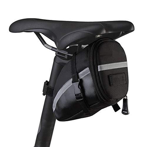 Sac de selle, Xphonew Bike Selle Wedge Lot sacoche de rangement arrière Sac Vélo PU Sac de selle, outils de réparation pour vélo Pocket Lot d'équitation Cyclisme Pochette avec bande réfléchissante