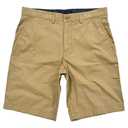 Tommy Hilfiger Mens Flat Front Shorts (40, Incense)