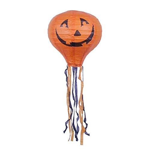 Glzcyoo Halloween Swirl Plafond Opknoping Decoratie Raam En Deur Decoratie Halloween Home Decoraties Voor Feest, Halloween Pompoen Licht Hot Air Balloon Papier Licht Ornament Charme
