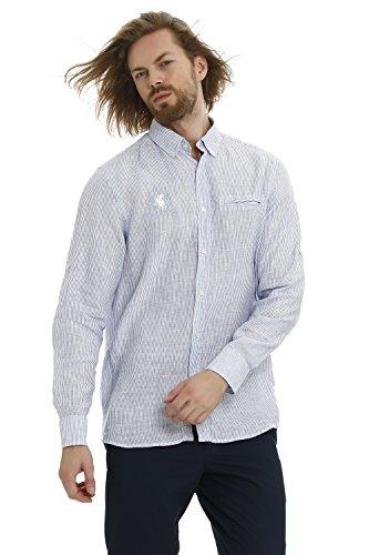 GALVANNI Edna Camisa Casual, Azul (Blue Bell Multi Striped 8791), Small (Tamaño del Fabricante:S) para Hombre