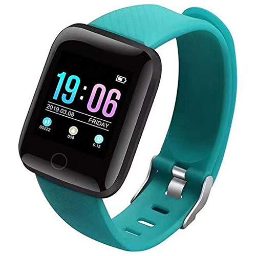 FFF8 Relojes Inteligentes 116 Plus Ritmo Cardíaco Reloj De Pulsera Inteligente Relojes Deportivos Banda Inteligente a Prueba De Agua Smartwatch Android (Color : Green)
