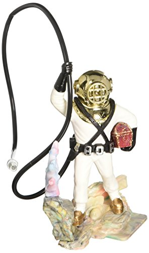 Penn-Plax Aerating Action Ornament, Diver with Hose – Color May Vary – Small (050)