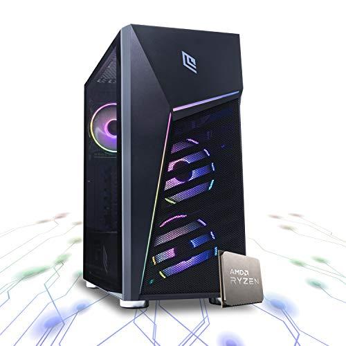 BRILLIANCE R760 - Pc gaming ryzen 7 3800X 8 core,Ram 16 Gb Ddr4 3200Mhz RGB,RTX 2060 6Gb,Ssd M.2 256GB Hdd 1tb, Raffreddamento a liquido,Windows 10 pro Computer da gaming assemblato,Wi Fi