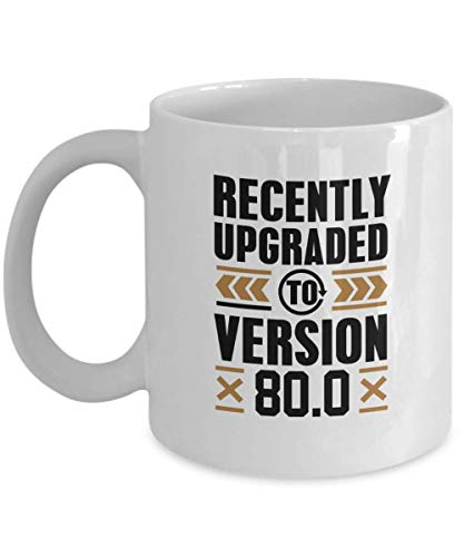 WTOMUG Gamer, Birthday Coffee Mug, Funny Gift for Gamer, Birthday - Recently Upgraded To Version 80.0 Computer Games, Play Station, Wii, Xbox Coffee Cup 11 Oz