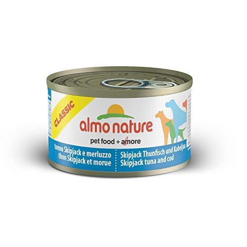 almo nature Hfc Naturale tonno Skip Jack e merluzzo Wet Dog Food, 95g, Confezione da 24