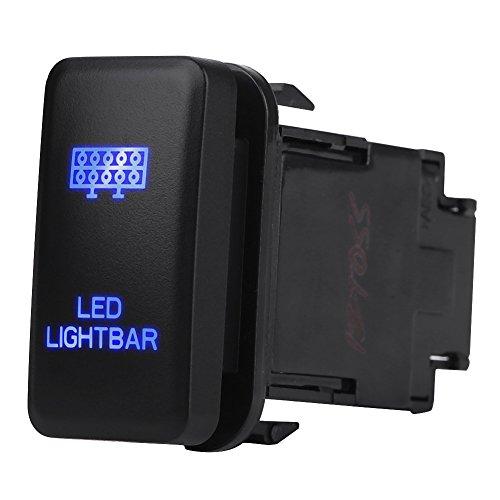 Keenso 12V Blau LED On Off Rocker Kippschalter Licht Lichtleiste Wippschalte(LED-LICHTLE)