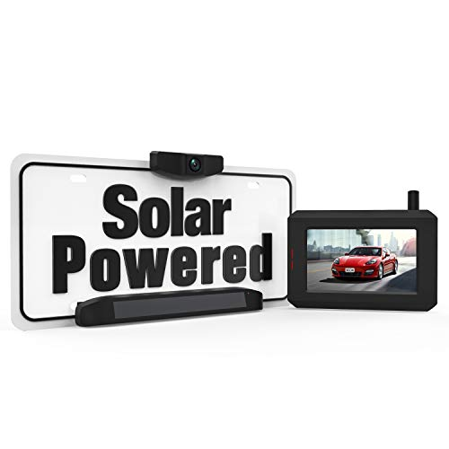 Solar Wireless Backup Camera, DIY No Wiring No Drilling Install with Digital Wireless Rear View Camera, Universal Bracket for Most Vehicle (BOSCAM SunGo Pro)