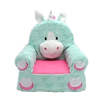 Animal Adventure | Sweet Seats | Teal Unicorn Children's Plush Chair