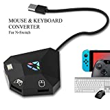Keyboard and Mouse Adapter for Nintendo Switch, Keyboard and Mouse Adapter for PS4, Xbox One, PS3, Xbox 360