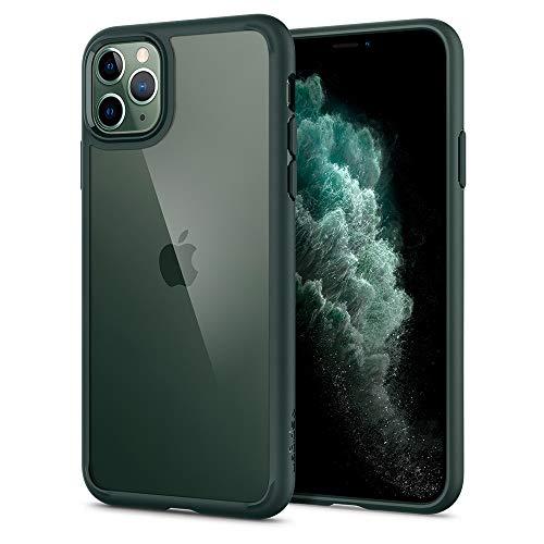 Spigen Cover Ultra Hybrid Compatibile con iPhone 11 PRO - Midnight Green