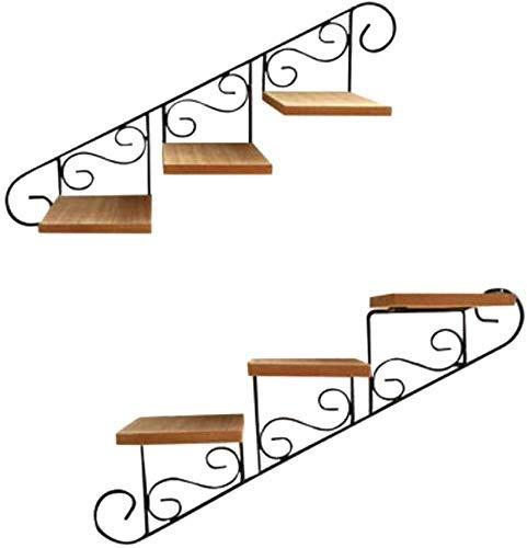 YBB-YB YankimX 2 soportes de hierro para plantas, soporte para macetas, estante de piso de diseño elegante, para interiores y exteriores, jardín, patio, bonsái, decoración de plantas