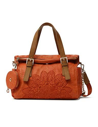 Desigual Womens PU Hand Bag, ORANGE, U