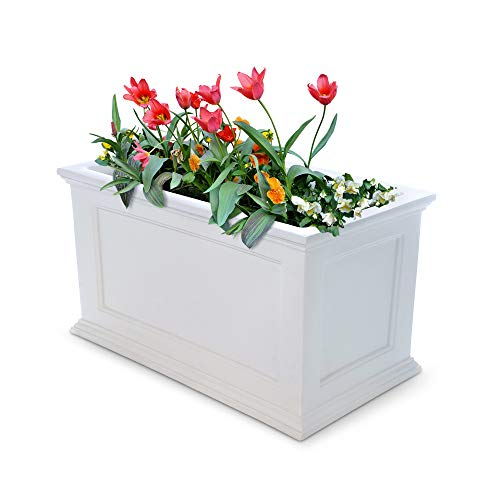Price comparison product image Mayne Fairfield 5826W Patio Planter,  20-Inch by 36-Inch,  White