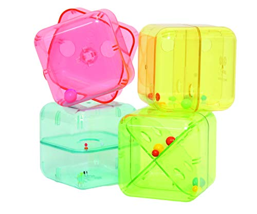 BSM Edushape - Jouet D'Eveil - Les Cubes Rigolos - Ed 525020, Multicolore