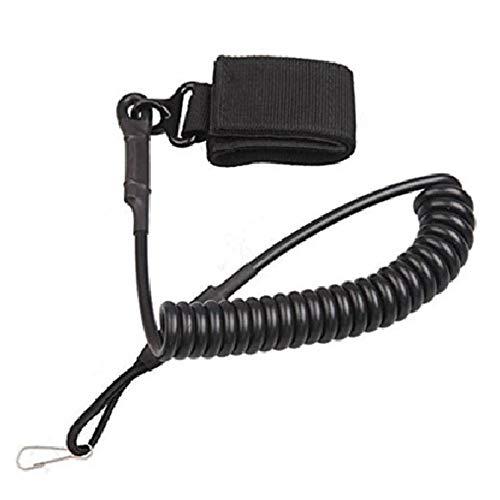 CHBOP Sicherheit Outdoor Military Tactical Spring Saite Schnalle Kordel Karabinerhaken Schlüsselband Schlüsselanhänger (schwarz)