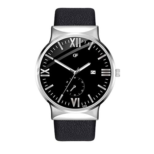 Yivise Relojes Casuales de Moda para Hombre Reloj de Acero I