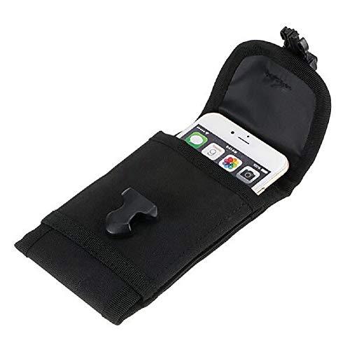 R.N.L Étui de Téléphone Portable Housse Ceinture Pochette Tactique Molle pour iPhone X 8 7 6 6S Plus 5S Samsung Galaxy S8 Plus S7 Note 5 4,7'' 5'' 5,5'' 6'' (Noir)
