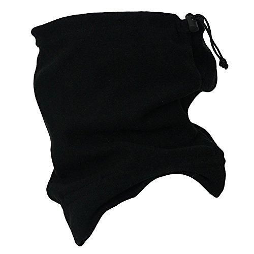 (Black) - Winter Warm Outdoor Thermal Warmth Snood Neck Warmer Multi Use Outdoor Ski Beanie Hat