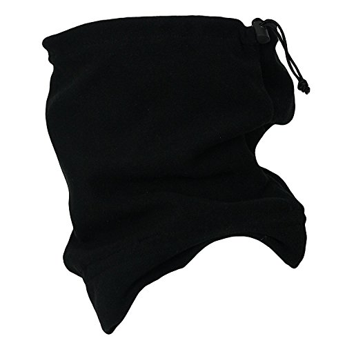 (Black) - Winter Warm Outdoor Thermal Warmth Snood Neck Warmer Multi Use Outdoor Ski Beanie Hat