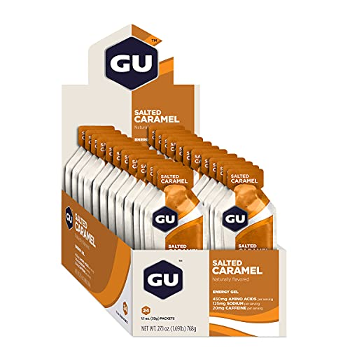 GU Energy Gel, Salted Caramel (zoutkaramel), doos met 24 x 32 g