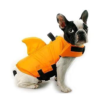 Yi Xuan La Vie de Chien Gilet d'été Shark Pet Life Jacket Dog Surf Costume Piscine Animaux de sécurité Tissu Oxford Respirant Vacances Gilet de sécurité (Color : Blue, Size : XS 1 6KG)