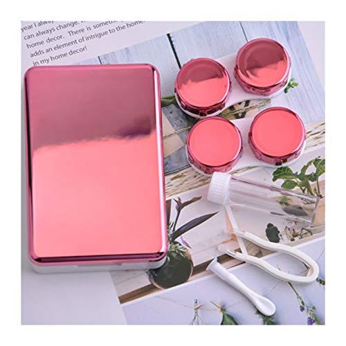 LDGR Kontaktlinse-Kasten-Speicher-Schönheitspflege Abdeckung Schüler Fall Reise Container Halter-Aufbewahrungsbehälter Reise Unsichtbare Gläser Organizer (Color : Pink)