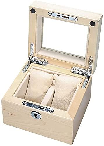 NYZXH Caja de Almacenamiento Caja de Reloj de Madera, Soporte de exhibición/Caja de Caja/Caja de Almacenamiento para Relojes de joyería, Pulsera Caja de recolección 2 cuadrículas Caja de exhibició