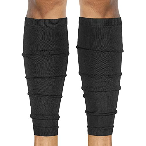 SLEEFS Calf Compression Leg Sleeves - Football Leg Sleeves for Adult Athletes - Shin Splint Support (Black)