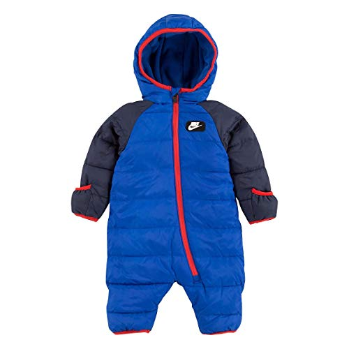 Nike Baby`s Puffer Snowsuit (Game Royal(56F422-U89)/Red, 3 Months)