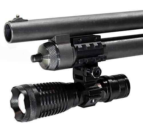 Trinity tactical flashlight 1500 lumen for Mossberg maverick 88 shotgun 12 gauge pump home single rail mount.