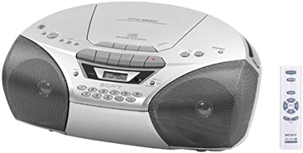Sony CFD-S250 CD/Radio/Cassette Boombox (Silver)