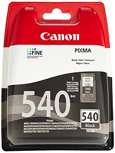 Canon PG-540 Cartuccia Originale Getto d'Inchiostro, 1 Pezzo, Nero
