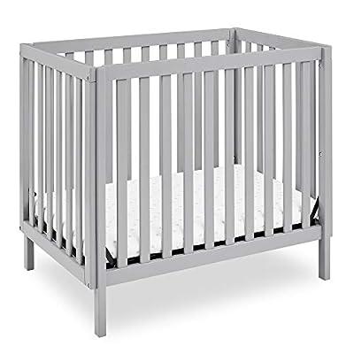 """Delta Children Gio Mini Crib with 2.75"""" Mattress Included, Grey by AmazonUs/DEMQX"""