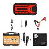 4YANG Car Jump Starter 12V 22000mAh Portable Car Booster Battery 600A Lithium Jump Starter Engine Battery Charger Power Bank with LED/Clamp/Quick Charge (Up to 7.0 L Gas or 4L Diesel Engine) (Red)