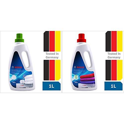 Bosch Fabric Softener for Washing Machine - 1 l & Bosch Detergent for Front Load Washing Machine - 1 l