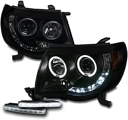 ZMAUTOPARTS LED Halo Projector Black Smoke Super beauty product restock quality top Headlights Headlamps Cheap mail order shopping