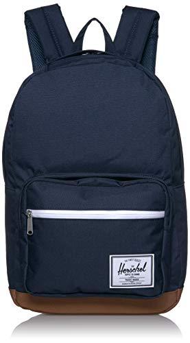 Herschel Pop Quiz Backpack, Peacoat/Saddle Brown, Classic 22L