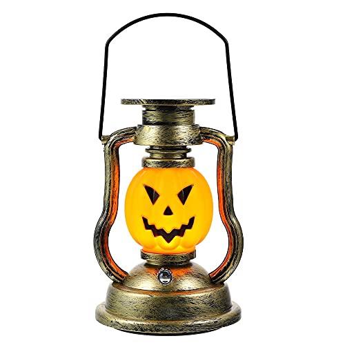 ZHANGJINYISHOP2016 Calabazas Halloween Pumpkin Solar Keroseno Lámpara Retro Linterna de Mano Lámpara Adorno Props Barkkin Lantern Chill out (Color : Assorted Color)