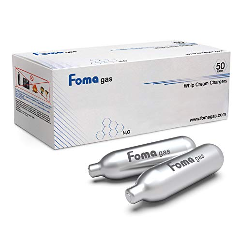 FOMAGAS Whipped Cream Chargers, 50 Pack