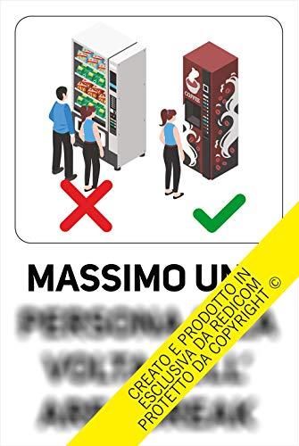Generico Cartello Covid 19'Utilizzo Area Break - 20x30 cm - 3 Pezzi - Adesivo per Interni - ETCOV19