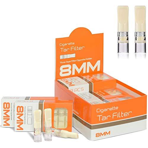 ZOBO Filtres à Cigarettes Jetables, avec Fonction de Triple Filtration, pour Réduire le Goudron et les Taches de Fumée (96 pcs par Paquet)